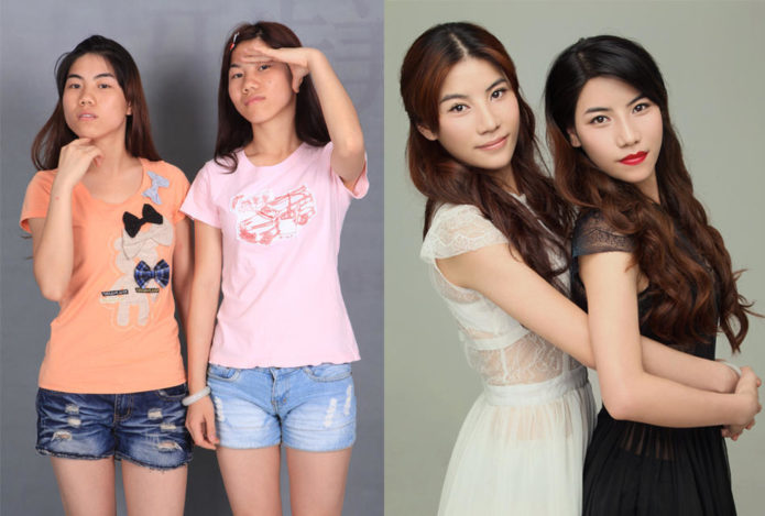 Фото китаянок до и после пластики